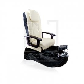 Fotel do pedicure Spa TS1204 Ecru/Black Z Funkcją Masażu