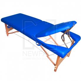 Stół Składany Do Masażu Komfort Wood AT-009B Blue