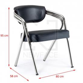 Gabbiano Krzesło Do Poczekalni Q-1145 Czarne #2