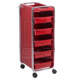 Pomocnik fryzjerski NG-ST005 czerwony