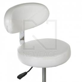 Taboret kosmetyczny z opar. BD-9934 biały #1