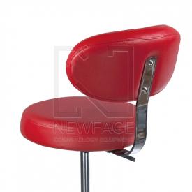 Taboret kosmetyczny z opar. BD-9934 czerwony #3
