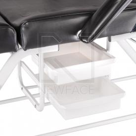 Fotel kosmetyczny z kuwetami BW-262 czarny #2