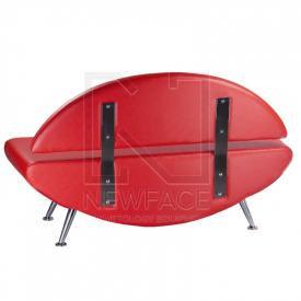 Kanapa do poczekalni Carini BD-6710 czerwona #1