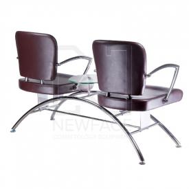 Krzesło do poczekalni LIVIO brązowe BD-6709(1003) #1
