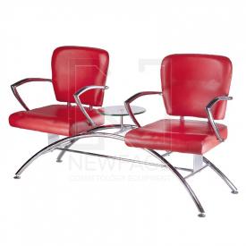 Krzesło do poczekalni LIVIO czerwone BD-6709(1003)