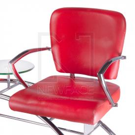 Krzesło do poczekalni LIVIO czerwone BD-6709(1003) #3