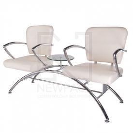 Krzesło do poczekalni LIVIO kremowe BD-6709(1003)