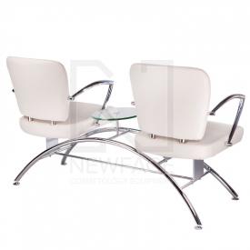 Krzesło do poczekalni LIVIO kremowe BD-6709(1003) #2