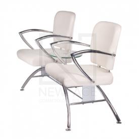Krzesło do poczekalni LIVIO kremowe BD-6709(1003) #3