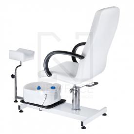 Fotel Do Pedicure Z Masażerem Stóp BW-100 Biały #2