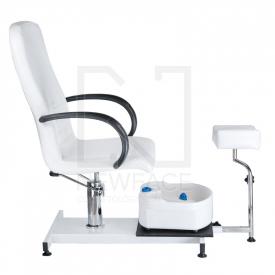 Fotel Do Pedicure Z Masażerem Stóp BW-100 Biały #7