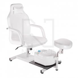 Fotel do pedicure z masażerem stóp BD-5711 biały