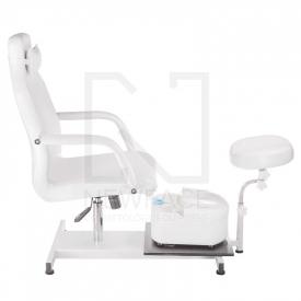 Fotel do pedicure z masażerem stóp BD-5711 biały #6