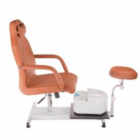 Fotel do pedicure z masażerem stóp BD-5711 beżowy #6