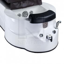 Fotel do pedicure z masażem BR-3820D Brązowy #4