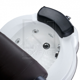 Fotel do pedicure z masażem BR-3820D Brązowy #5