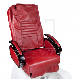 Fotel do pedicure z masażem BR-3820D Bordowy #3