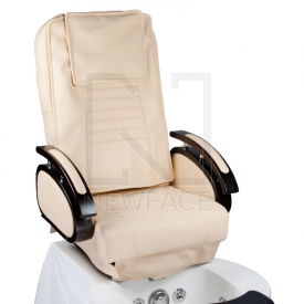 Fotel do pedicure z masażem BR-3820D Kremowy #3