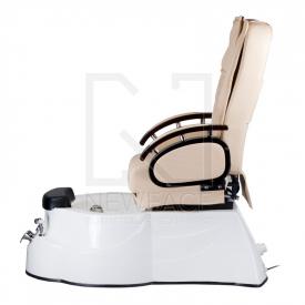 Fotel do pedicure z masażem BR-3820D Kremowy #8
