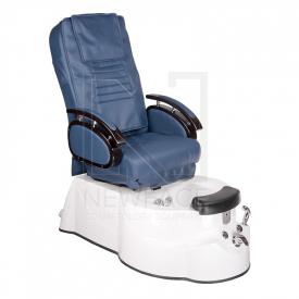 Fotel do pedicure z masażem BR-3820D Niebieski #1