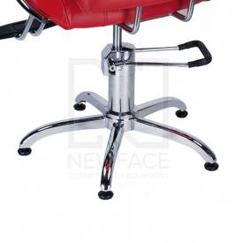 Fotel fryzjerski FIORE czerwony BR-3857 #4