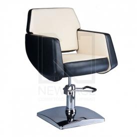 Fotel fryzjerski NICO czarno-kremowy BD-1088