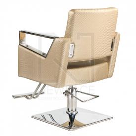 Fotel fryzjerski Roberto kremowy BM-203 #3