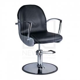 Fotel fryzjerski ADAMO czarny BD-1017 #1