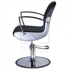 Fotel fryzjerski ADAMO czarny BD-1017 #5
