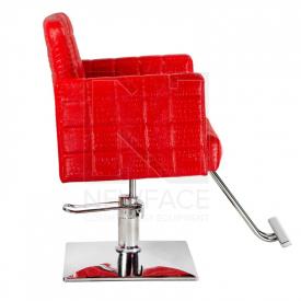 Fotel fryzjerski Bruno czerwony BM-207 #4