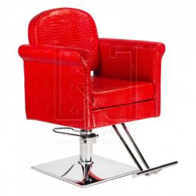 Fotel fryzjerski Carlo czerwony BM-256 #1