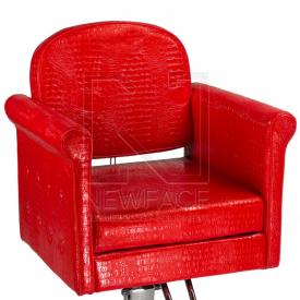 Fotel fryzjerski Carlo czerwony BM-256 #2