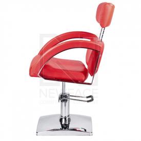 Fotel fryzjerski DINO czerwony BR-3920 #4