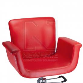 Fotel fryzjerski ELIO czerwony BD-1038 #3