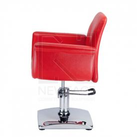 Fotel fryzjerski ELIO czerwony BD-1038 #5