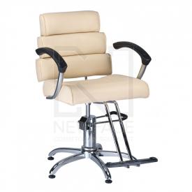 Fotel fryzjerski FIORE kremowy BR-3857
