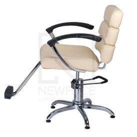 Fotel fryzjerski FIORE kremowy BR-3857 #5