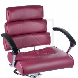 Fotel fryzjerski FIORE wrzosowy BR-3857 #1