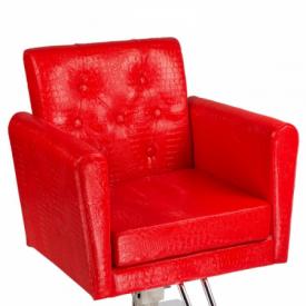 Fotel fryzjerski Lorenzo czerwony BM-291 #2