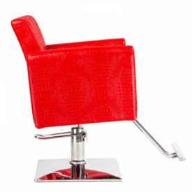 Fotel fryzjerski Lorenzo czerwony BM-291 #4