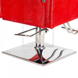 Fotel fryzjerski Lorenzo czerwony BM-291 #5