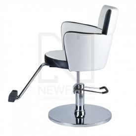 Fotel fryzjerski LUIGI BR-3927 biało-czarny #5