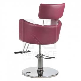 Fotel fryzjerski LUIGI BR-3927 wrzos #4