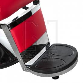 Fotel fryzjerski LUMBER BD-2121 Czerwony #3