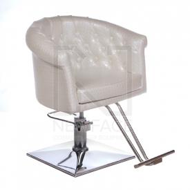 Fotel fryzjerski Marco perłowy BM-209