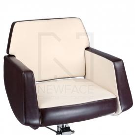 Fotel fryzjerski NICO brązowy-kremowy BD-1088 #2