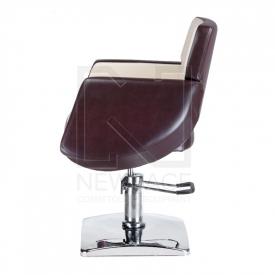 Fotel fryzjerski NICO brązowy-kremowy BD-1088 #5