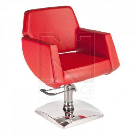 Fotel fryzjerski NICO czerwony BD-1088