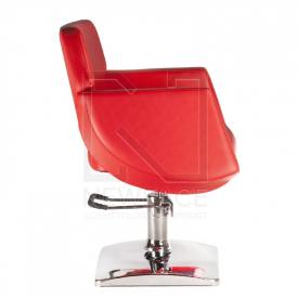 Fotel fryzjerski NICO czerwony BD-1088 #4